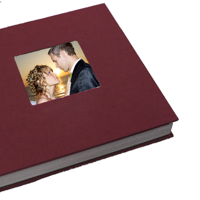 Fabric covered wedding album